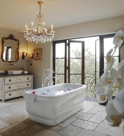 Luxurious Rustic Italian Style Bathroom