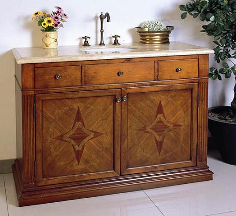 Patterned Multi-Cherry Bathroom Vanity From Legion Furniture