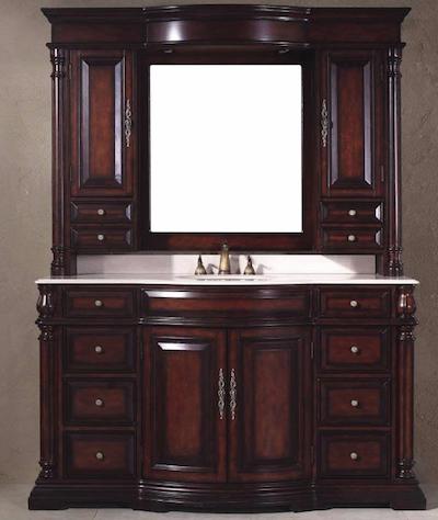 Single Marble Top Bathroom Vanity, 206-001-5122 by James Martin