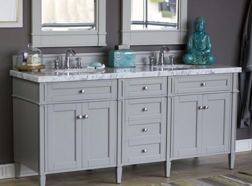 "Brittany 72"" Double Bathroom Vanity Cabinet, 650-V72-UGR by James Martin"