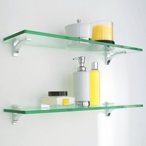 Clear Glass Shelves Can Increase Your Storage Space While Keeping Your Space Looking Open