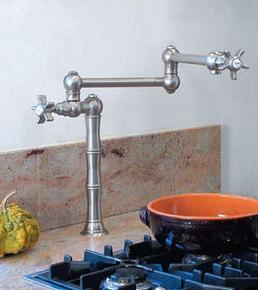 Rohl Deck or Island Mounted Swing Arm Pot Filler from the Rohl Country Kitchen Series