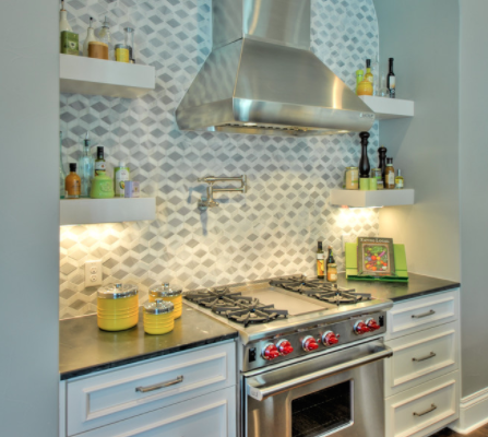Intricate backsplashes add new dimension to a kitchen (By K. Miller Interiors)