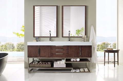 "Columbia 72"" Double Bathroom Vanity 388-V72-CFA-A from James Martin Furniture"