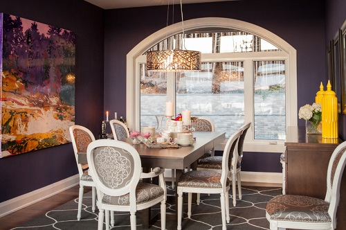 Ultra Violet is a bold, assertive color that is potent enough to dominate a color scheme even in small doses, but can produce a beautiful look when used with a skillful hand (by Mod & Stanley Design Inc.)