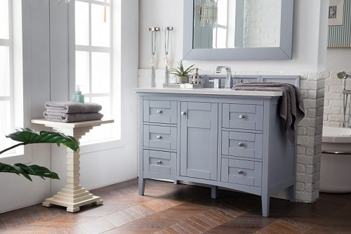 "Palisades 48"" Single Bathroom Vanity in Silver Gray 527-V48-SL from James Martin Furniture"
