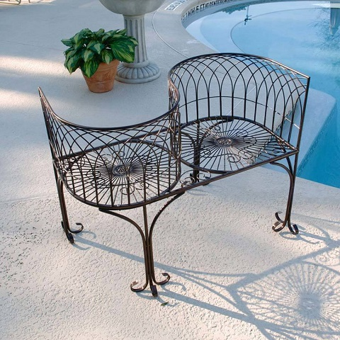 Tete A Tete Bench FZ50505 from Toscano