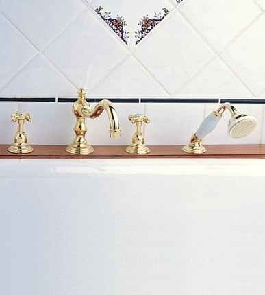 Royale Double Handle Roman Tub Faucet 3033 from Herbeau
