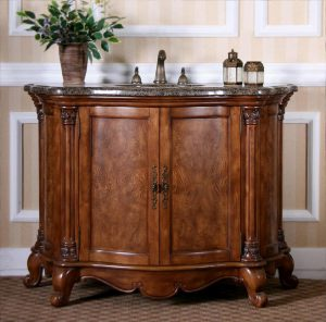 Solid Birch wit Burl Wood Veneers Bathroom Vanity From Legion