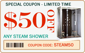 Coupon - $50 off steam shower units