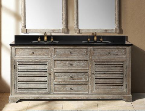 "Savannah 72"" Gray Double Bathroom Vanity From James Martin"