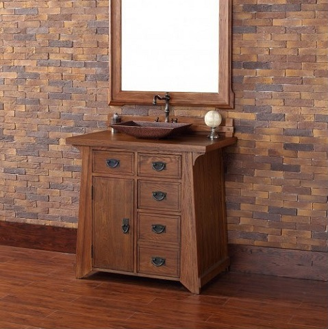 "Pasadena 36"" Bathroom Vanity 250-V36-ANO in Antique Oak From James Martin Furniture"