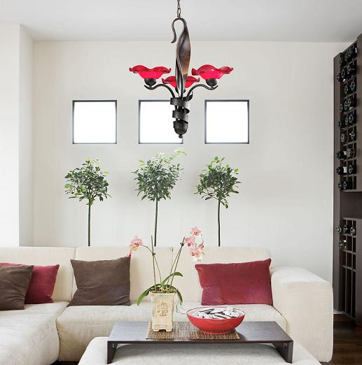 Villa Cherry Glass Chandelier From ELK Lighting