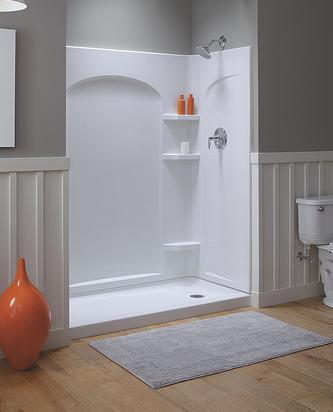 Ensemble Curve Alcove Shower From Sterling