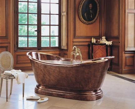 Medicis Copper Freestanding Soaking Tub From Herbeau