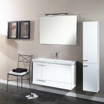 simple ns7 bathroom vanity set from iotti - Shallow Bathroom Vanity