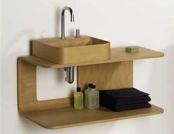 Aeri All Wood Double Shelf Single Vanity From Whitehaus
