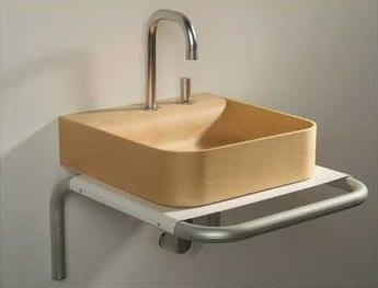 Aeri Square Wood Sink Basin From Whitehaus