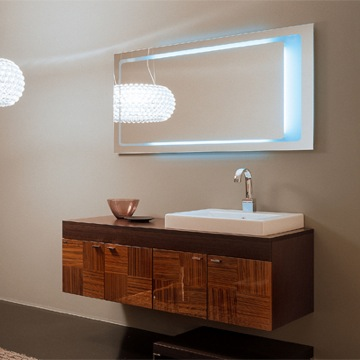 Concept One NC6 Backlit Mirror And Vanity From Iotti