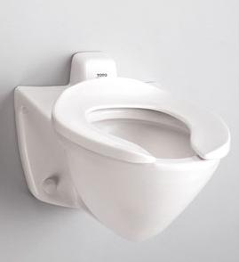 Flushometer ADA Approved Wall Mount Toilet From Toto