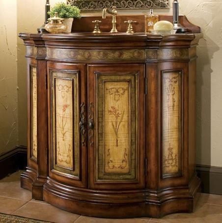 Glendale Hand Painted Bathroom Vanity From Cole and Co