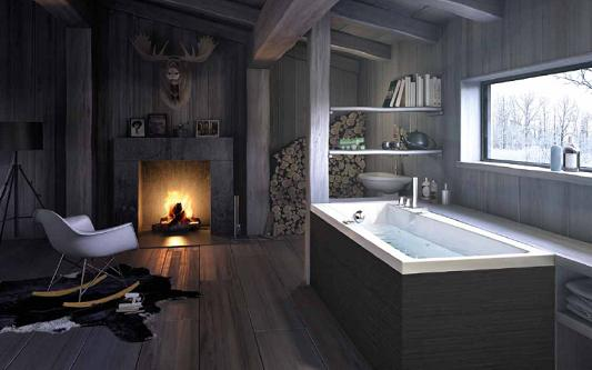 Gorgeous Wood On Wood Bathroom Design By Glass