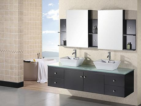 Portland Modern Wall Mounted Vanity From Design Element