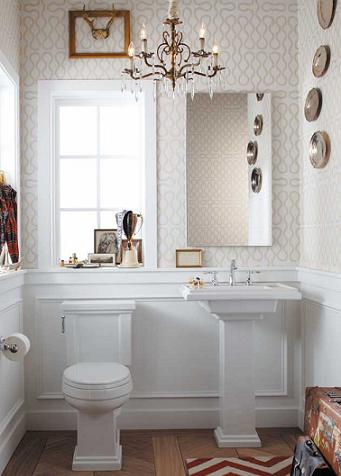 Vintage Bathroom Designed With The Kohler Tresham Collection