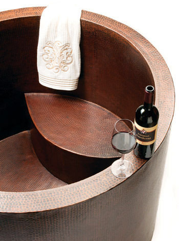 Copper Japanese Soaking Tub From Premier Copper Products