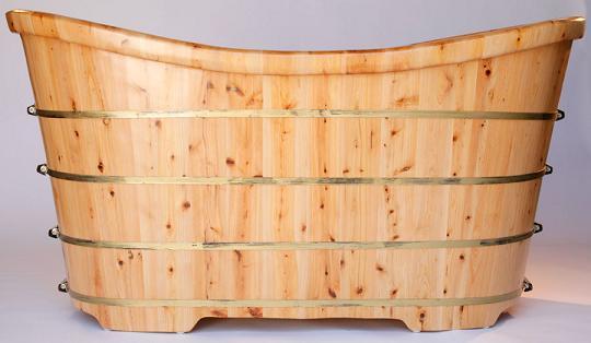 Freestanding Cedar Wood Bathtub From Alfi
