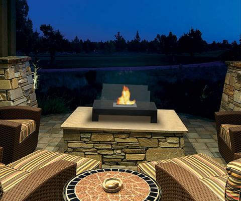 Gramercy Tabletop Outdoor Fireplace From Anywhere