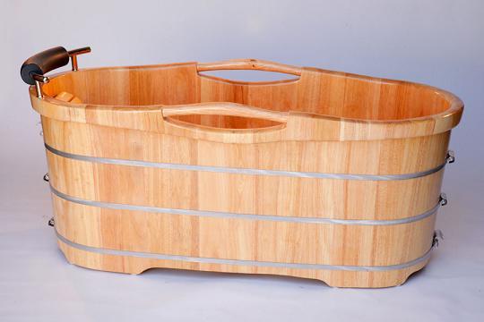 Oak Freestanding Tub With Headrest From Alfi