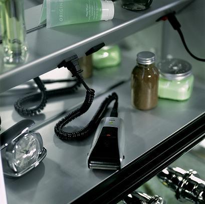 Robern Medicine Cabinet With Electric Shelf