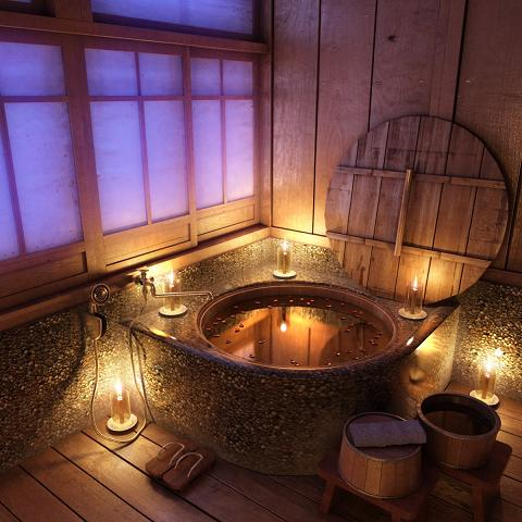 Traditional Wooden Anese Soaking Tub