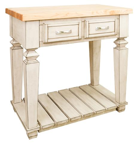 Compact Open Kitchen Island From Hardware Resources