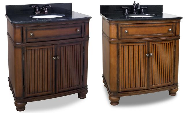 Compton Single Bathroom Vanity With Four Inch (Left) And Eight Inch (Right) Spreads From Hardware Resources