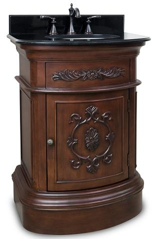 Emilia Merlot Single Bath Vanity From Hardware Resources