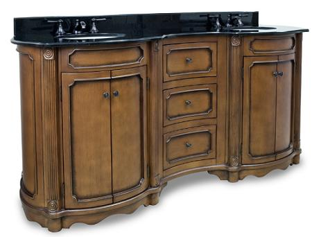 Tesla Walnut Double Vanity From Hardware Resources