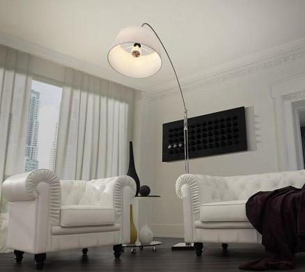 Alpha Chrome Floor Lamp From Zuo Modern