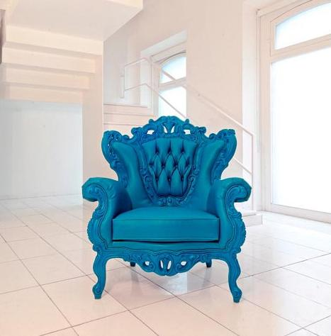 Antique Inspired PolyResin Urban Chic Arm Chair From PolyArt