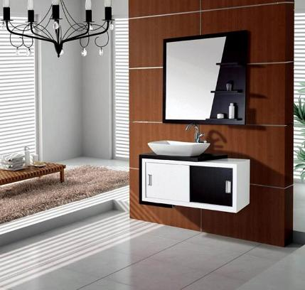 Black And White Bathroom Vanity And Mirror From MBM