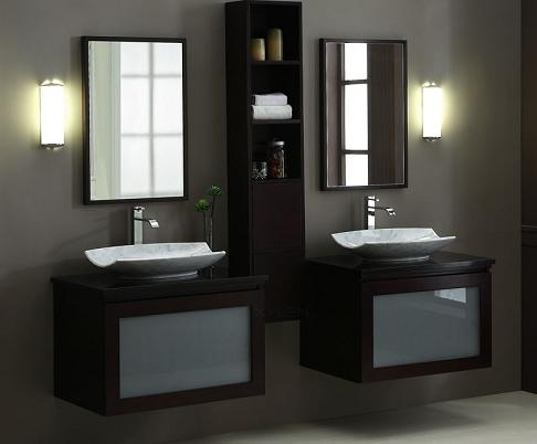 Blox Double Wall Mounted Bathroom Vanity Set With Storage Cabinet From Xylem