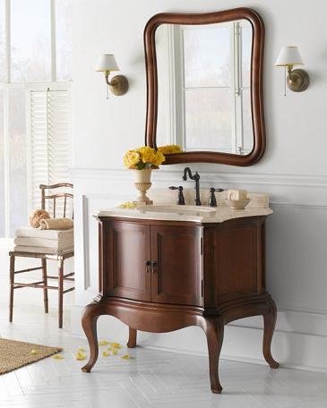 Chardonnay Antique Wood Bathroom Vanity From Ronbow