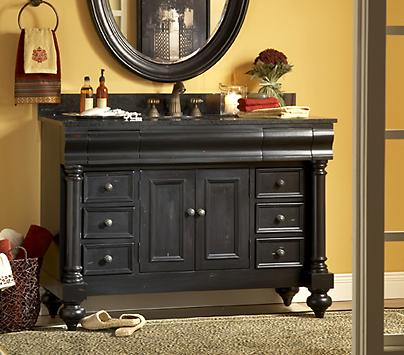 Guild Hall Distressed Black Bathroom Vanity From Kaco