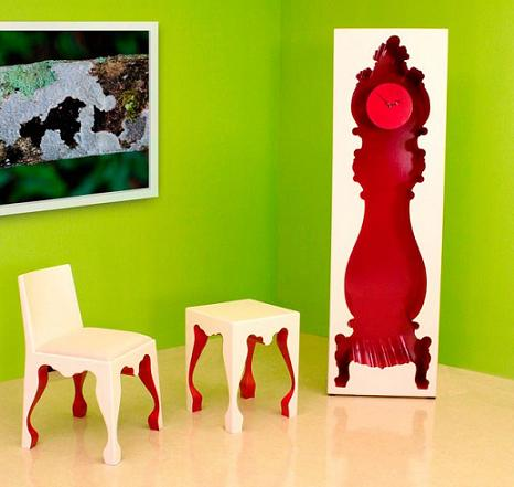 InsideOut Urban Chic Grandfather Clock From PolArt