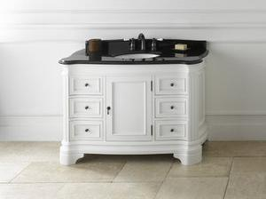 Le Manns White Vanity Cabinet From RonBow