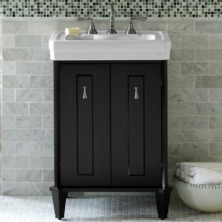 Lutezia Modernique Black Bathroom Vanity From Porcher