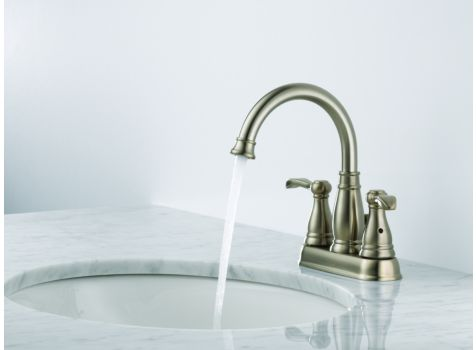 Porter Two Handle Centerset Faucet In Brushed Nickel From Delta