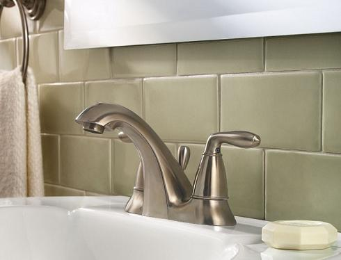 Serrano Double Handle Centerset Faucet In Brushed Nickel From Pfister