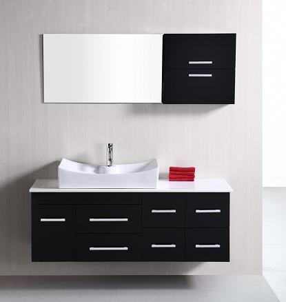 Springfield Wall Mount Black Bathroom Vanity From Design Element